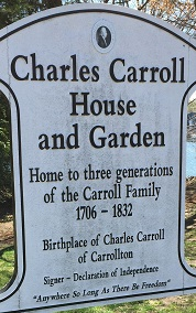 Birthplace of Charles Carroll of Carrrollton