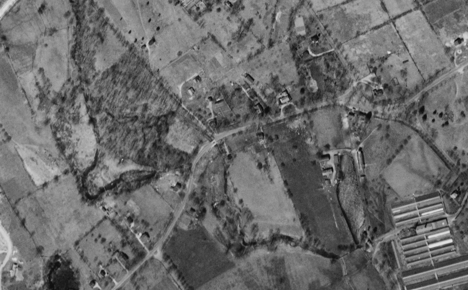 Old Red Mill aerial photo
