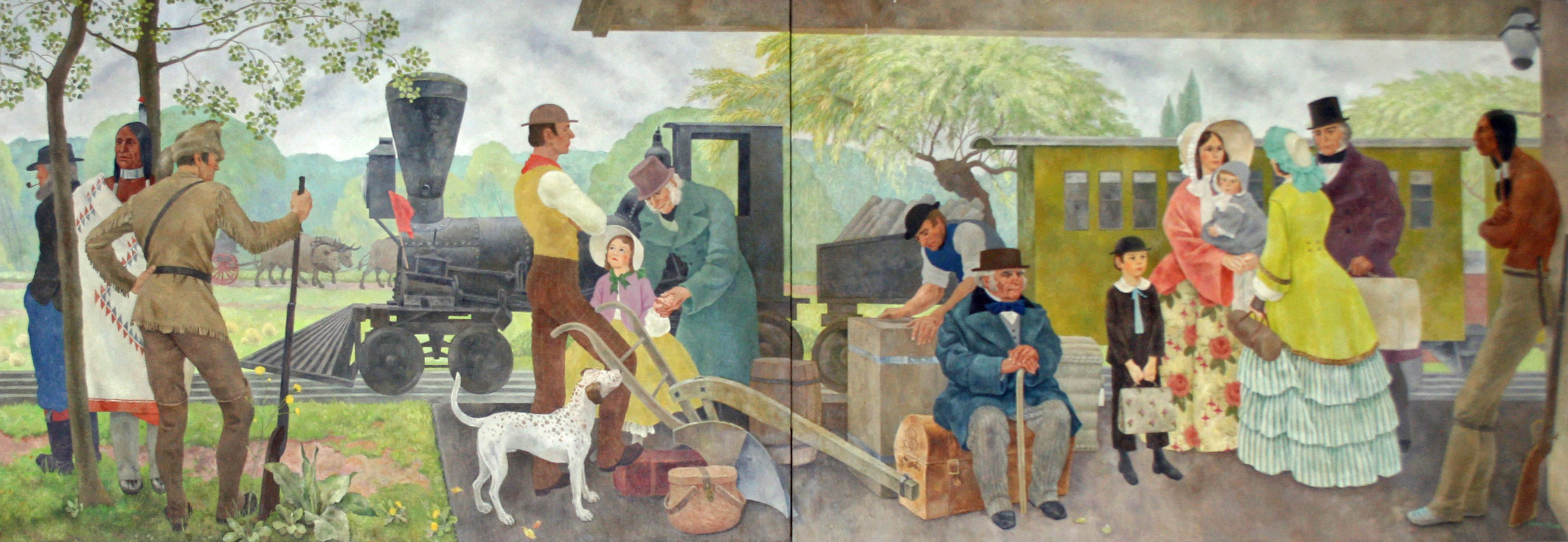 Frances Foy mural, Chicago Main Post Office
