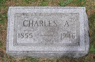 Tombstone for Charles A. Hauser