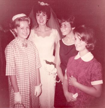 Students at wedding, 1964