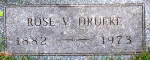 Tombstone for Rose Drueke