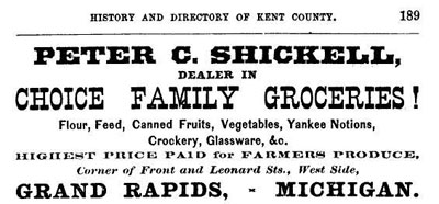 1870 Schickell Grocery Ad