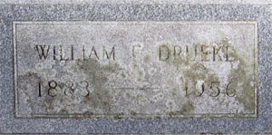 Tombstone for Will Drueke
